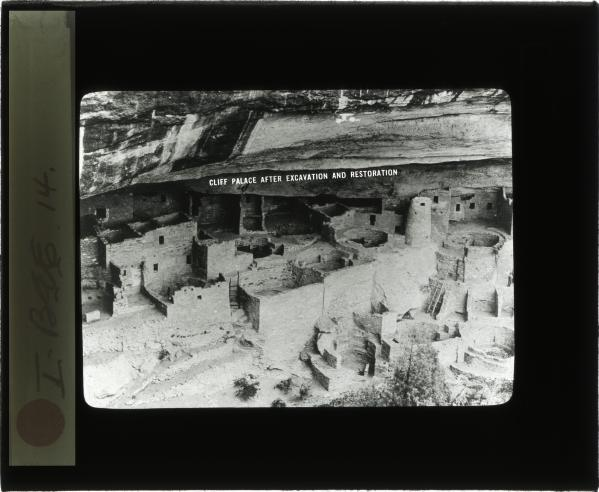 Cliff Palace in Mesa Verde National Park, after excavation and repair by the Smithsonian's Bureau of