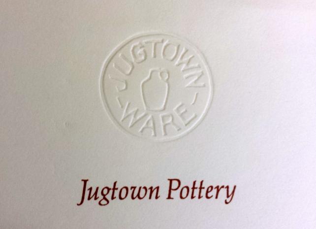 Jugtown Pottery letterhead.