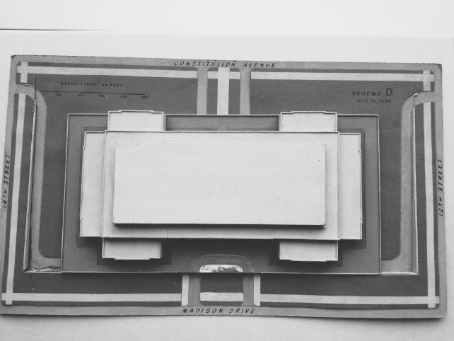 """Scheme D"" architectural model of the National Museum of American History, 1956, Accession 99-005, S"