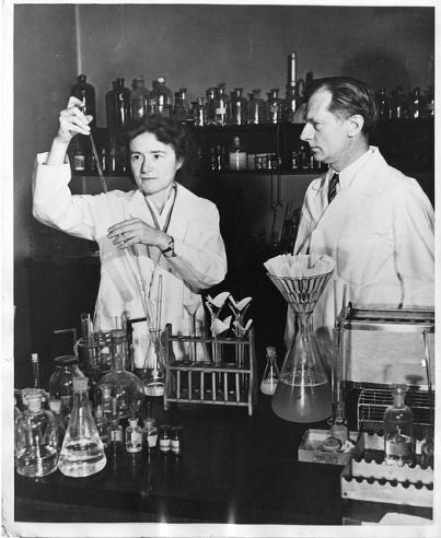 Biochemists Gerty Theresa Radnitz Cori and Carl Ferdinand Cori