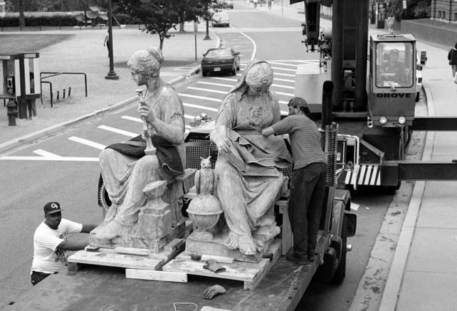 Science and Industry Statues Being Removed for Conservation, by Nathan Mountjoy