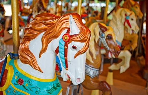Smithsonian Carousel on the National Mall, by Ken Rahaim, 2009.