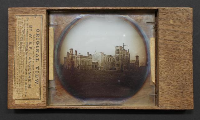 Lantern slide photograph on glass in wood mount, William Langenheim (1807-1874) and Frederick Langenheim (1809-1879) Philadelphia, 1850.