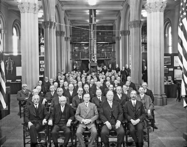 Attendees at Conference on Future of Smithsonian Institution, February 11, 1927.