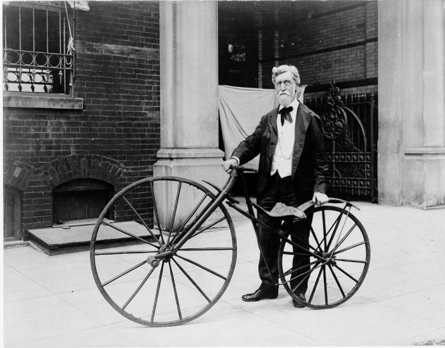 Smithsonian Employee George C. Maynard Outside the US National Museum, c. 1900-1918, MAH 56795.