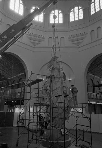 "Moving the ""Statue of Freedom"" from the Rotunda of A&I"