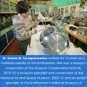 Szczepanowska works on a satellite.