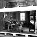California ranch kitchen in an exhibit.